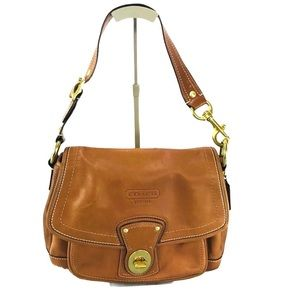Coach Leather Legacy Flap HOBO Shoulder Bag